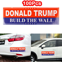 100Pack Donald Trump 2020 Build The Wall Bumper Sticker President Decal