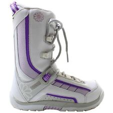 New Morrow Slick White Purple Youth Snowboard Boots Us 5 Cm 23 Eur 36.5 Kids Nib