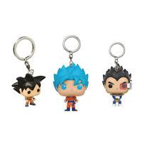 Anime Dragon Ball Keychain Son Goku Vegeta Trunks Key Ring Holder Keychain Gift
