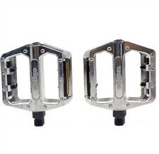 "1* Silver B087 Alloy Pedals Flat Platform Road BMX/Mountain Bike Pedals 9/16"""