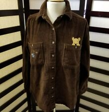 Vintage Winnie the pooh 100 acre collection brown corduroy jacket adult small