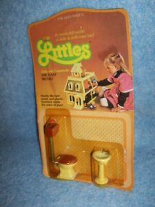 1980 Dollhouse Furniture- Sink and Commode - the Littles by Mattel #1797