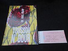Youssou N'Dour 1990 Japan Tour Book with Ticket Stub