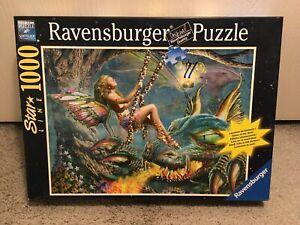 "Ravensburger Star Line ""Elf & Dragon Swing"" Glow-in-The-Dark Puzzle 1000 Piece"