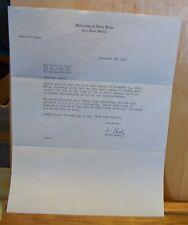 Terry Brennan Notre Dame Coach Signed Auto Autograph 1956 Letter TLS College Cut Signatures
