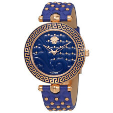 Versace Vanitas Blue Dial Ladies Leather Watch VK704 0013
