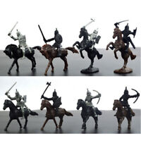 28pcs/Set Medieval Soldiers Knights Horses Model Kid Child Toy Gift War Game