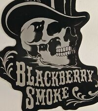 "Blackberry Smoke Sticker Decal Skull Top Hat 3.75x5"" Spellout Logo Southern Rock"