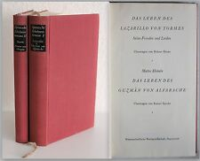Schelmenromane española: lazarillo, guzmán de alfa venganza U.W. 2 BDE. 1964/65 XZ