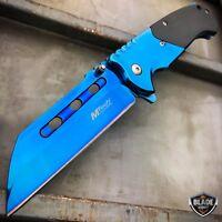 M-Tech TACTICAL Spring Assisted Pocket Knife CLEAVER RAZOR FOLDING Blade BLUE