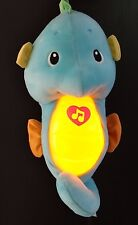 Fisher-Price Ocean Wonders Soothe and Glow Seahorse plush toy, Blue-WORKING
