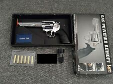 HFC Savaging Bull Metal Airsoft Gas Revolver Pistol Non Blowback HG-133C Silver