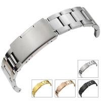 Solid Stainless Steel Bracelet Watch Band Men Womens Watch Strap 18 20 22 24mm