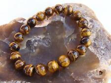 Natural Gemstone Men's Women's ELASTIC bracelet all 8mm Tiger Eye beads Gift