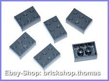 Lego 6 x Bausteine Steine grau 2x3 Basic Bricks Dark Bluish Gray 3002 NEU / NEW