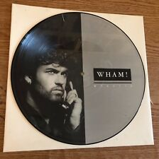 "RARE 12"" LIMITED 1985 EPIC UK PICTURE DISC WHAM! I'M YOUR MAN  GEORGE MICHAEL"