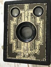 Kodak Brownie Vintage Box Camera, Decorative Anitque 1940s  Untested Art Deco