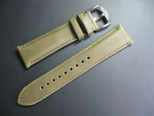 20 mm Fossil Olive Military Green Leather Watch Strap Steel Buckle band belt