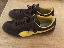 PUMA LIGA BROWN SUEDE SNEAKERS - MENS SIZE 14 - EUC