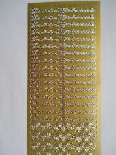 Konturensticker Herzlichen Glückwunsch gold SchmucketikettenAufkleberSticker5223