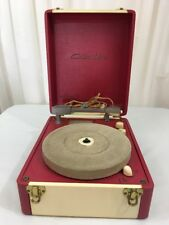 Vintage Columbia Portable Record Player Model 312 Case Phonograph, Beautiful