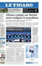 Le Figaro 18.11.2016 N° 22480*OBAMA compte sur MERKEL*PRIMAIRES*ESPACE*JADE*USA
