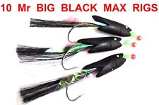 10 Mr BIG BLACK MAX TEMPTER HOKKI COD RIGS SEA FISHING LINE BOAT ROD LURES PIRKS