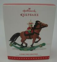 HALLMARK ORNAMENT - A Pony for Christmas - 2015 Limited Edition - Repaint