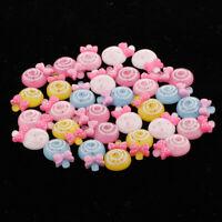 30Pack Lollipop Candy Flatback Cabochons DIY Telefon Fall Haarschleife