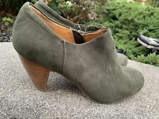 Crown  Vintage Ankle Boots Wendy Boho Chic  Size 10M green ECU Boho Retro