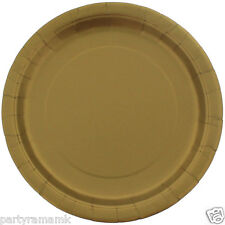 23cm Disposable Paper Plates - Birthday Wedding Anniversary Party Pack of 16 Gold