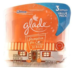 1 Open Pack Of Glade Plugins 2 Unused Pumpkin Pie Diner Scented Oil Refills