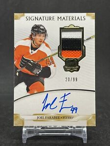 2019-20 The Cup Signature Materials Joel Farabee Rookie Year Auto Patch 20/99
