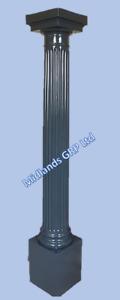 1 x GRP Door Decorative Fluted Columns Pillars Posts Anthracite Grey Fibreglass
