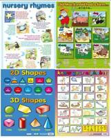 Alphabet / Colours / Nursery Rymes - Early Learning poster - set of 4 Charts