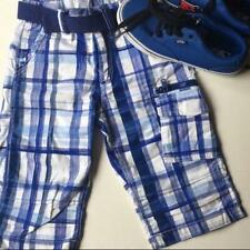 H&M Boy's plaid shorts blue Bermuda / cargo 5 - 6 Y