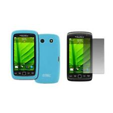 for BlackBerry Torch 9860 Light Blue Skin Case Cover+LCD Screen Protector