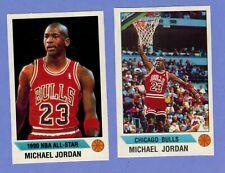 2 STICKER LOT MICHAEL JORDAN Chicago Bulls 1990 PANINI #91 #G.          4125