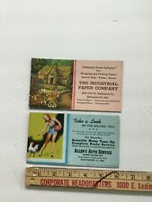 Lot Of Two Advertising Ink Blotters Allen'S Auto Service & Industrial Paper Co.