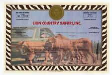 Lion Country Safari, Inc stock certificate