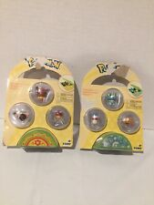 Set Of 2 New Sealed Pokemon Petite Pals Mini Figure 3-Pack Eevee