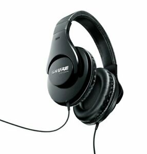 Shure SRH240A-BK Professional Around-Ear Headphones with 1/8 to 1/4 Adapter