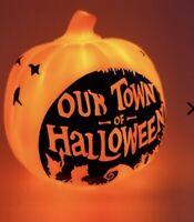 "Disney Nightmare Before Christmas Our Town of Halloween Pumpkin Mood Light 6""New"