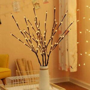 2Pcs 20LEDTree Branch Led Light Battery Powered Decor Willow Twig Branch Lights