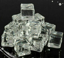 40x Acrylic Ice Cubes Artificial Fake Plastic Crystal Display & Photography Prop