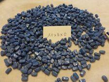 perle vintage lot de 800 perle en verre bleu lapis forme rectangle brillante