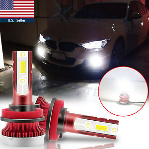H11 White LED Fog Light Bulbs 100W for BMW 320i 328i 335i 525i 528i 535i xDrive