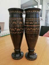 Pair of Hand carved Wooden Vase - Dimensions as by pictures.