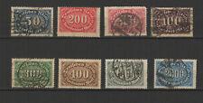 Allemagne 1922 Deutsches Reich 8 timbres / T2488