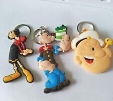 3pcs Popeye head Olive Oyl silica gel key chain key chains ornament pendant